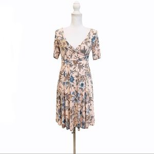 Floral Faux Wrap Small Maternity Dress